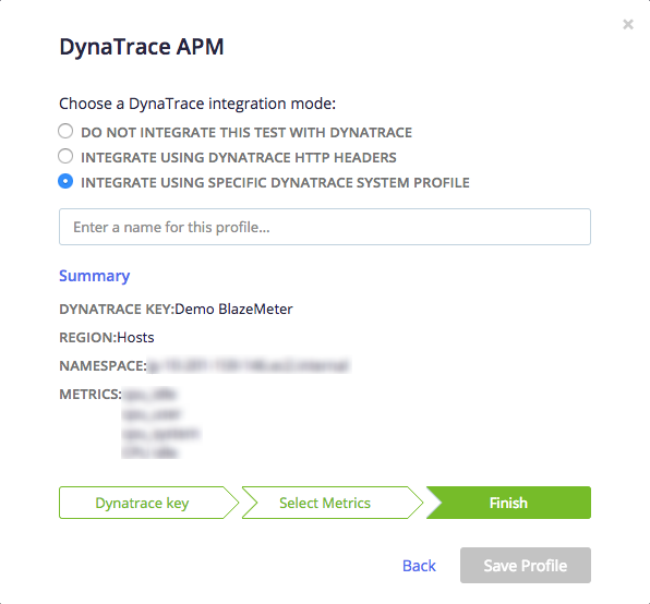 BlazeMeter's integration with DynaTrace APM – BlazeMeter